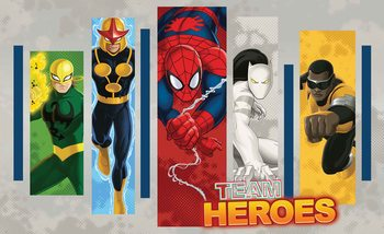 Marvel Comics Team Heroes Wallpaper Mural