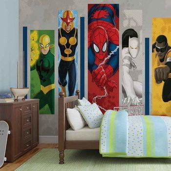 Marvel Comics Team Heroes Wallpaper Mural