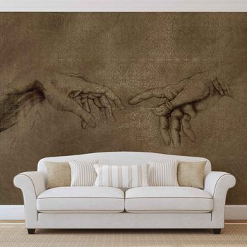 Michaelangelo Creation of Adam Wallpaper Mural