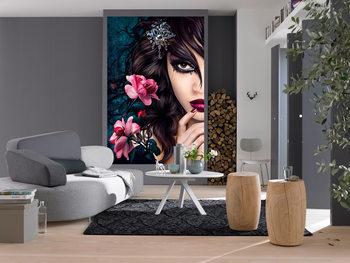 MIDNIGHT ROSE Wallpaper Mural