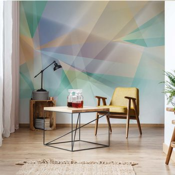 Modern Abstract Art Prism Wallpaper Mural