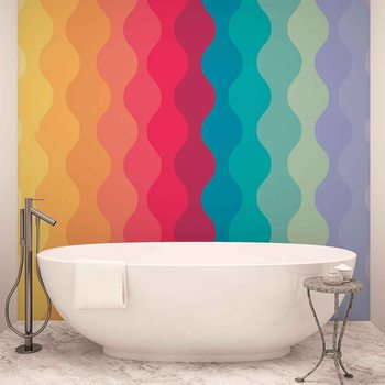 Modern Art Rainbow Wallpaper Mural