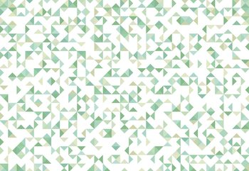Modern Geometric Pattern Green Wallpaper Mural