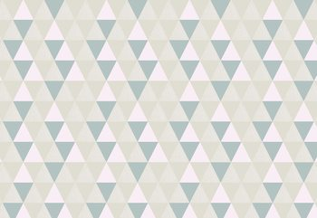 Modern Geometric Triangle Pattern Wallpaper Mural