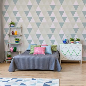 Modern Geometric Triangle Pattern Wallpaper Mural