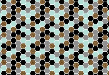 Modern Hexagonal Pattern Wallpaper Mural