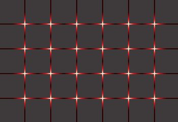 Modern Square Design Red Lights Wallpaper Mural