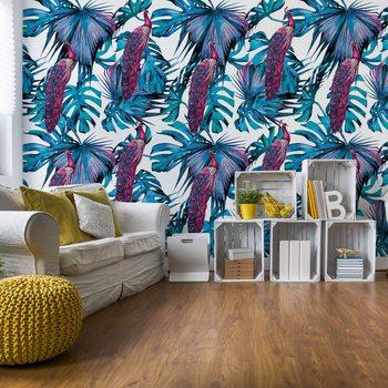 Modern Tropical Pattern Wallpaper Mural