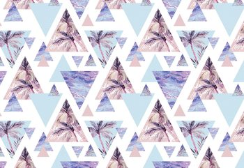 Modern Tropical Pattern Wallpaper Mural
