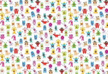 Monsters Pattern Wallpaper Mural