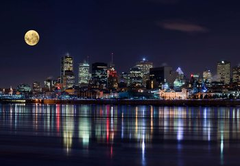 Montreal Night Wallpaper Mural