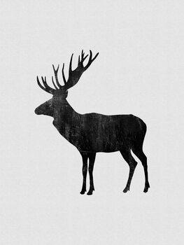 Wallpaper Mural Moose Painting