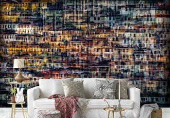 Multi House Wallpaper Mural