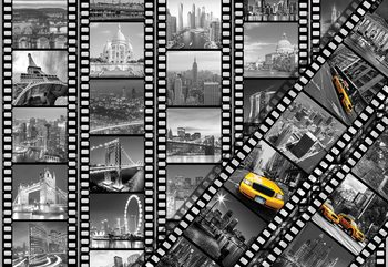 New York City Film Negatives Wallpaper Mural