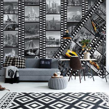 New York City Film Negatives Wallpaper Mural