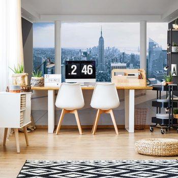 New York City Skyline 3D Penthouse View Wallpaper Mural