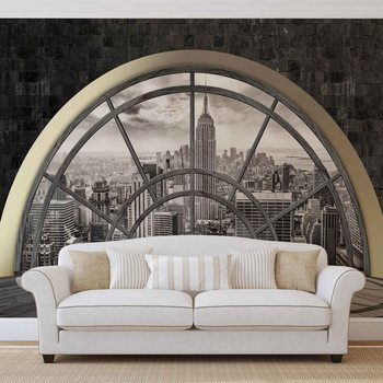 New York City Skyline Window Wallpaper Mural