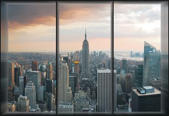 New York Skyline Window View Wallpaper Mural