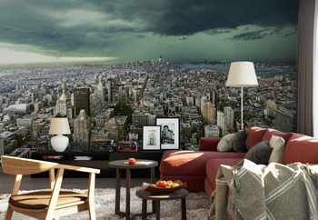 New York Under Storm Wallpaper Mural