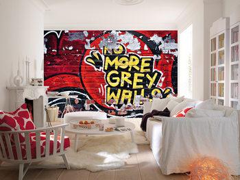 NO MORE GREY WALLS Wallpaper Mural