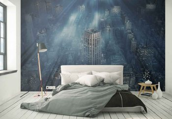 Nyc Blue Impact Wallpaper Mural