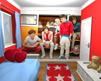 One Direction - Campervan Wallpaper Mural