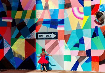 One Way Wallpaper Mural