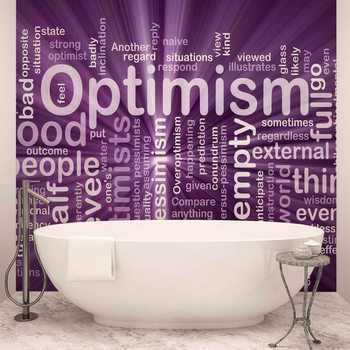 Optimism Abstract Wallpaper Mural