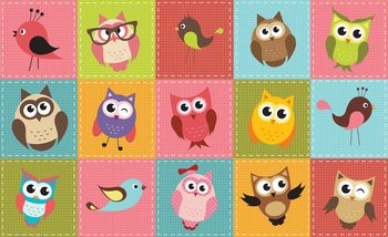 Owls Wallpaper Mural