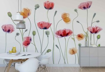 Papaver Party Wallpaper Mural