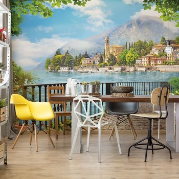 Paradise Lakeside View Wallpaper Mural