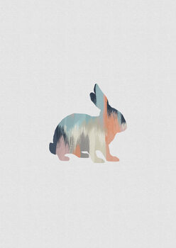 Wallpaper Mural Pastel Rabbit