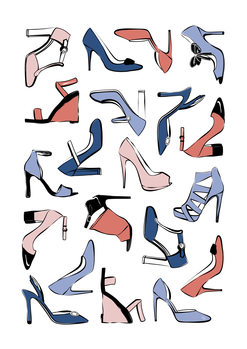 Pastel Shoes Wallpaper Mural
