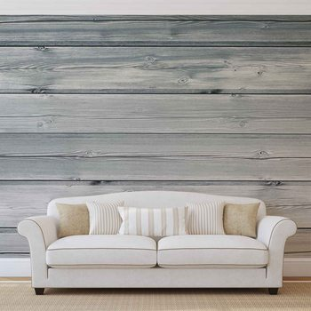 Pattern White Wood Wallpaper Mural