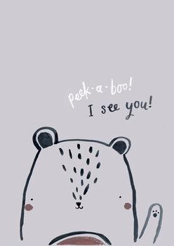 Wallpaper Mural Peek a boo bear