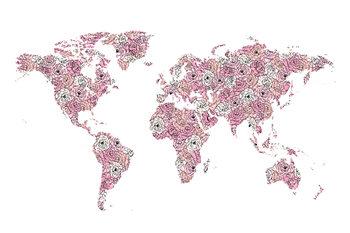 Wallpaper Mural Peony map