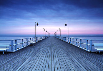 Pier at the Seaside Wallpaper Mural