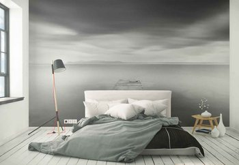 Pier With Slippers Wallpaper Mural