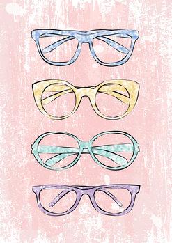 Pink Glasses Wallpaper Mural