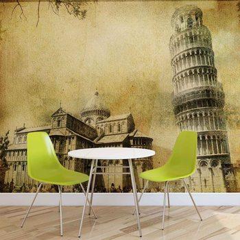 Pisa Leaning Tower Wallpaper Mural