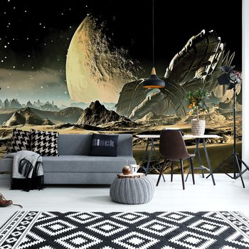 Planets Galaxy Outer Space Wallpaper Mural