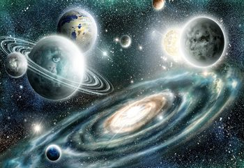 Planets In Space Wallpaper Mural