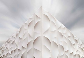 Pyramid Of Facets Wallpaper Mural