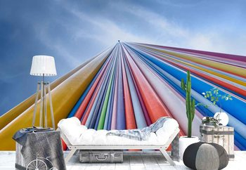 Rainbow From A Cloud Wallpaper Mural