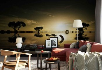 Reflections In The Lake Wallpaper Mural