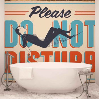 Retro Poster Do Not Disturb Wallpaper Mural