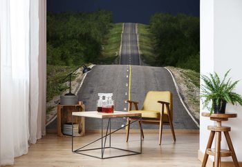 Road Up, Down, Up Wallpaper Mural