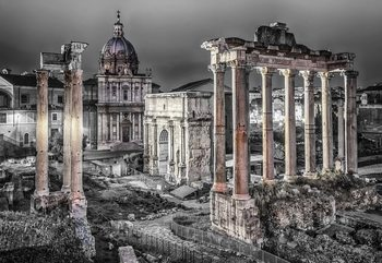 Roman Forum Rome Ancient Ruins Wallpaper Mural