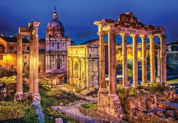 Roman Forum Rome Ancient Ruins Wallpaper Mural