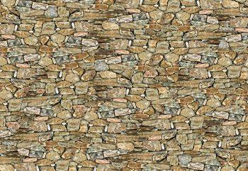 Rustic Stone Wall Wallpaper Mural